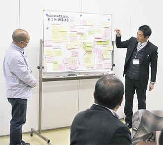 アイデアや問題点を共有する参加者