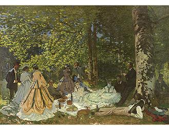 クロード・モネ「草上の昼食」1866年©The Pushkin State Museum of Fine Arts,Moscow.