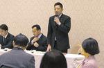 川崎市幼稚園父母連会長として意見交換する原