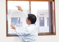 地震による飛散防ぐガラスフィルムが注目