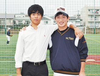 主将の古田さん(右)と高田監督(左)