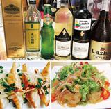 自家製朝採れ野菜のアジアン料理
