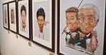 昨年ビッグコミック50周年展で展示された、同誌表紙のイラスト