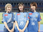 試合後、思いを語った(右から)吉川さん、宮崎さん、松岡さん