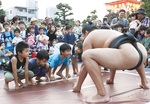 キッズ相撲に参加する子どもたち