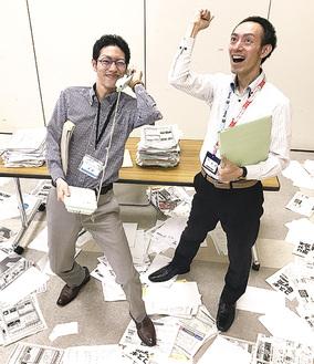 「働く人のストレス」を表現する区役所担当者(写真提供/イッツ・コミュニケーションズ)