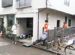 活動するボランティア