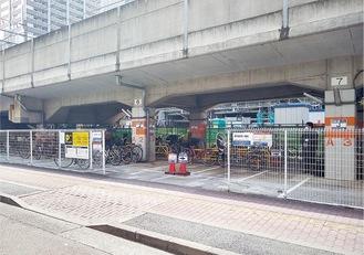 駐輪場はJR線武蔵小杉駅徒歩1分