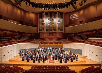 無観客コンサートを行う同楽団 (C)東京交響楽団