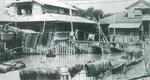 アミガサ事件のきっかけとなった多摩川の洪水(提供 下河原小学校)