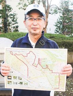 マップを紹介する石井部長