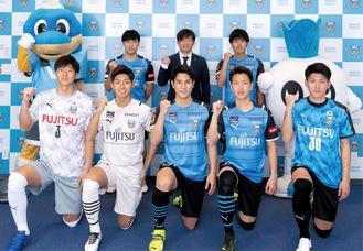 新体制会見に臨んだ選手ら ©川崎フロンターレ