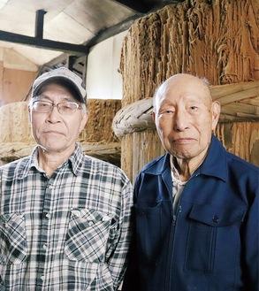 5代目の喜久雄さん(右)と弟の光太朗さん