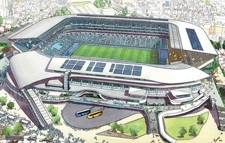 球技専用スタジアムのイメージ=川崎市提供