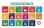 横に表示されている数字のアイコンは、SDGsの17の目標のうち、同企業の取り組みに該当する項目を一部掲載したものです