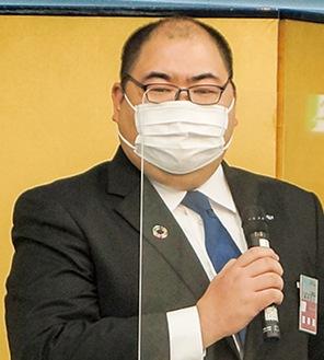 意気込みを語る新井理事長