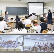 中国・瀋陽(しんよう)の生徒と交流