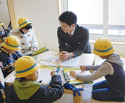 住宅展示場で校外学習