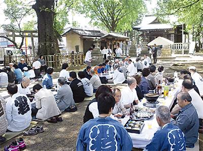小杉神社で復興祈願