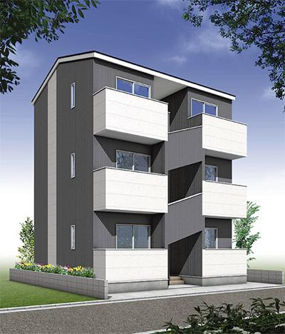 3階建てアパート新商品誕生