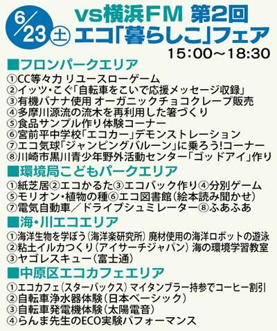 23日に横浜FM戦エコ暮らしこフェア