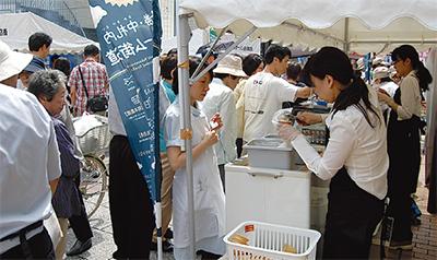 北海道の美味に大行列