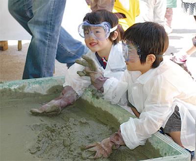 子どもが建設現場を体感