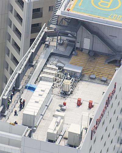 高層建物の消火活動を検証