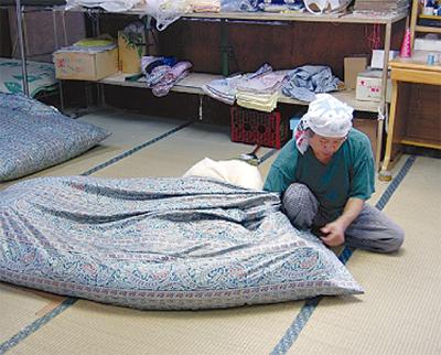 ふっくら布団で快適睡眠