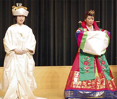 日韓の花嫁衣装を披露