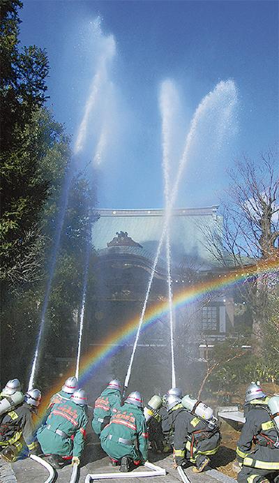 高願寺で防火訓練