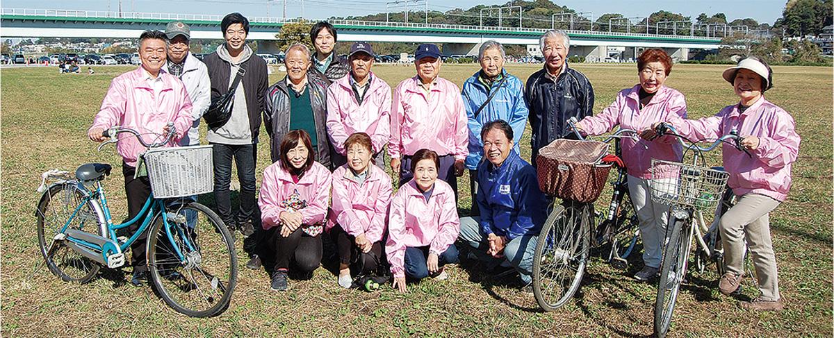サイクリングで高齢者支援