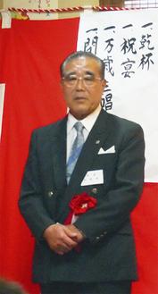 受賞を喜ぶ松澤会長