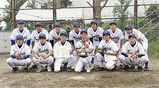 優勝を果たしたたま日吉台病院野球部