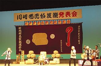 県指定文化財の「新城の囃子曲持」(昨年)