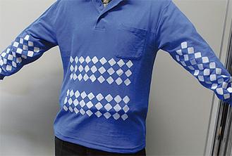 昨年度試作にこぎつけたアイデア「すべり止めシャツ」