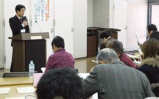 鈴木文治教授が講演した