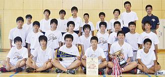 柿生中バスケットボール部の部員