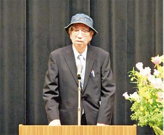 全国地名研究者大会で講演する谷川氏