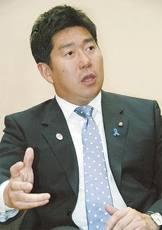 1年の取組を振り返る福田市長