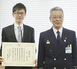 林さん(左)と松澤署長