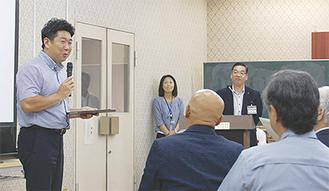 地域住民と意見交換する福田市長