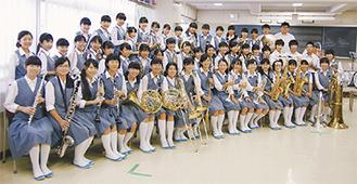 次の大会に向け練習に励む金程中吹奏楽部