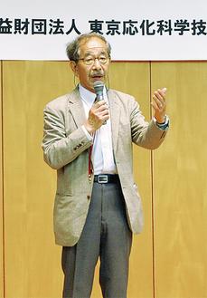 挨拶に立った安村通晃会長