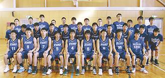 中学時代には日本一を獲ったメンバーもいる男子バスケ部