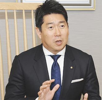 川崎市の重点施策について語る福田市長