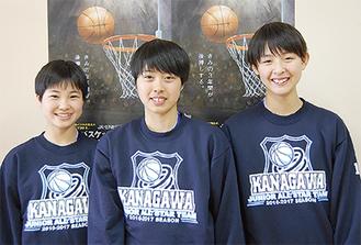 写真右から岩切さん、横山さん、上村さん