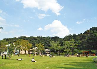 生田緑地の芝生広場