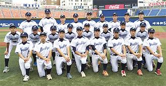 横浜スタジアムで県代表決定戦に臨んだ麻生ボーイズの選手ら