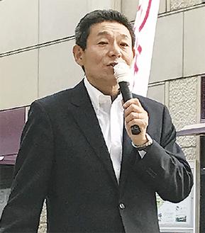 新党結成への考えを語る笠氏